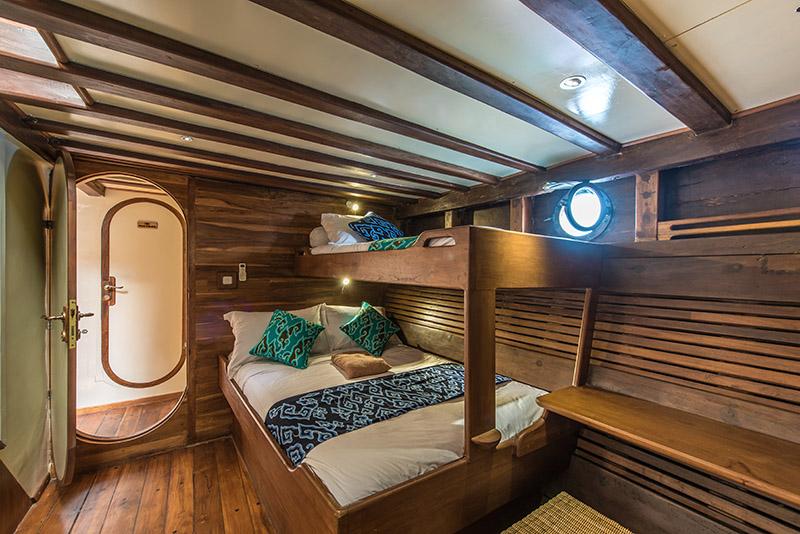 Traditional Schooner Indonesia Cabin